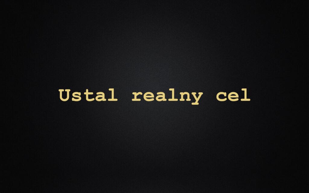 Ustal realny cel