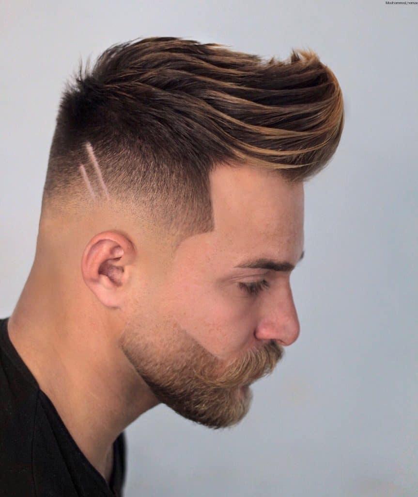 fryzura męska typu quiff