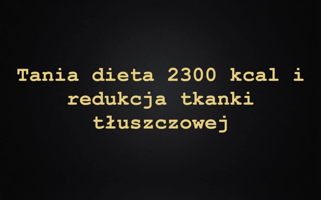 Tania dieta 2300 kcal i redukcja tkanki tłuszczowej