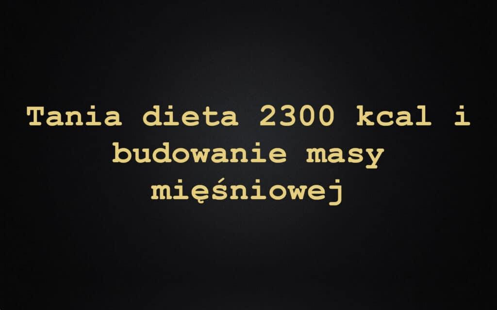 Tania dieta 2300 kcal i budowanie masy mięśniowej